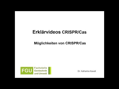 CRISPR/Cas Erklärvideo 2: Beschreibung der Möglichkeiten