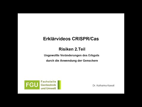 CRISPR/Cas-Erklärvideo 4: Risiken (Teil 2)
