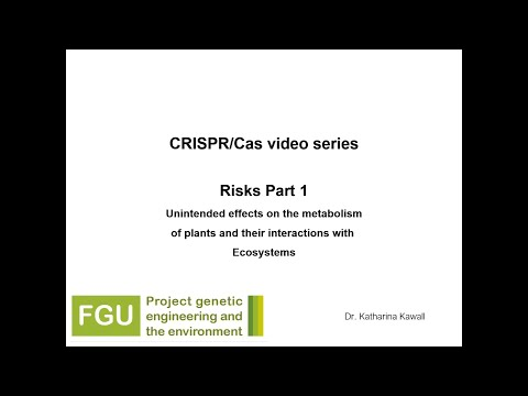 CRISPR/Cas Explainer Video 3: Risks (Part 1)